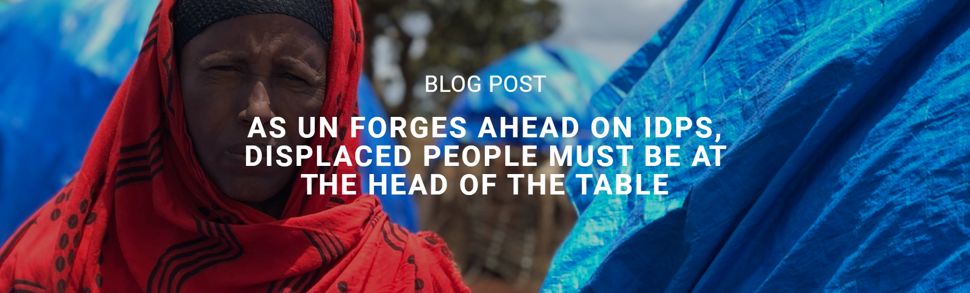 Blog Post – Giving IDPs space on the table