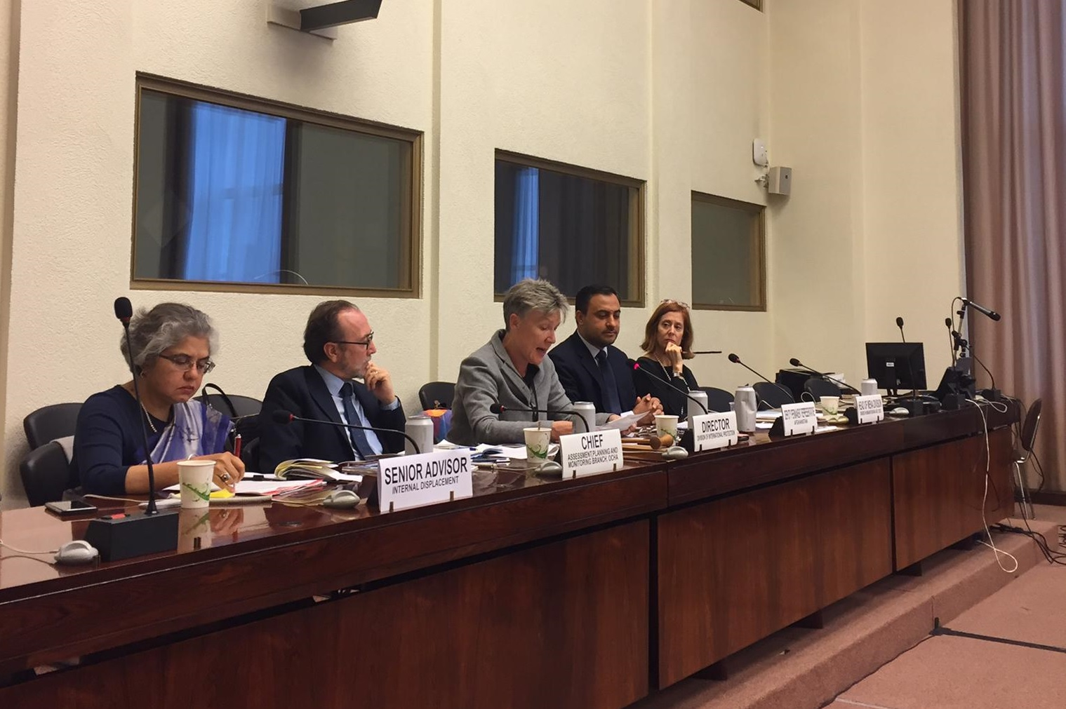 Internal displacement a key issue discussed during the 70th Session of UNHCR's Executive Committee in Geneva
